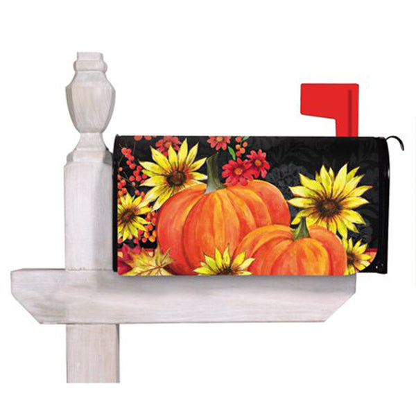 Pumpkins and Sunflowers Mailbox Cover