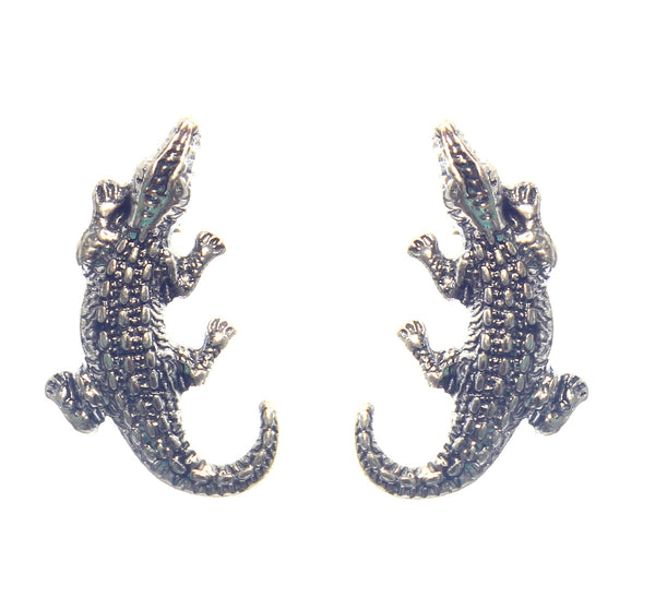 Gator Earrings (Silver)