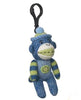 Sock Monkey Plush Toy Clip-ons, Multi Pattern Navy Blue