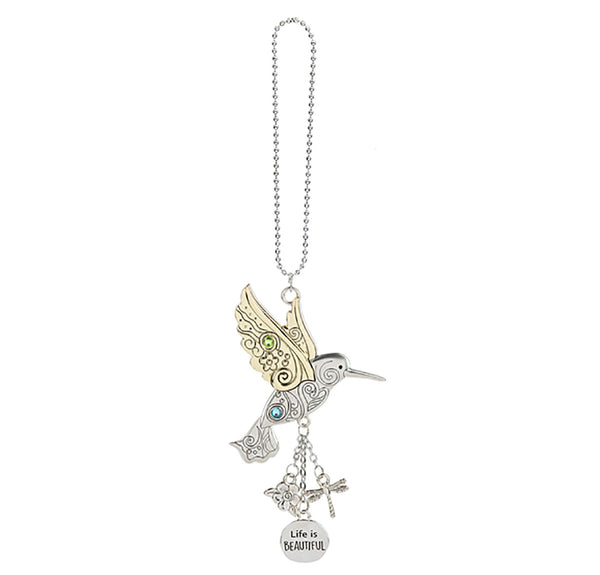 Hummingbird Car Charm