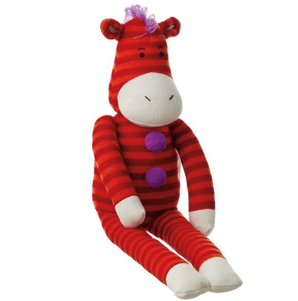 Zippy Medium Zebra Sock Plush Toy