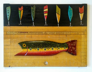 Signriter Brook Trout with Lures