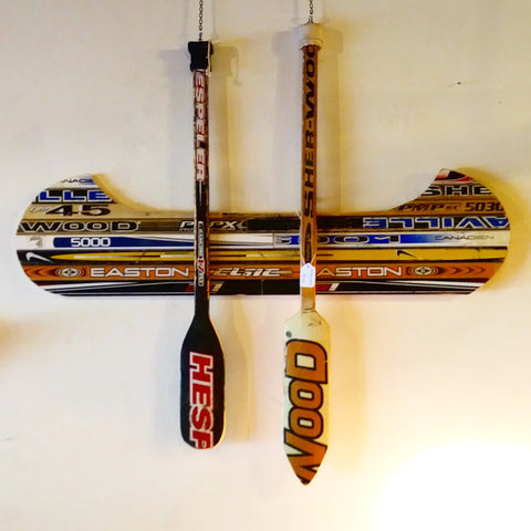 Hockey Stick Canoe and Paddles