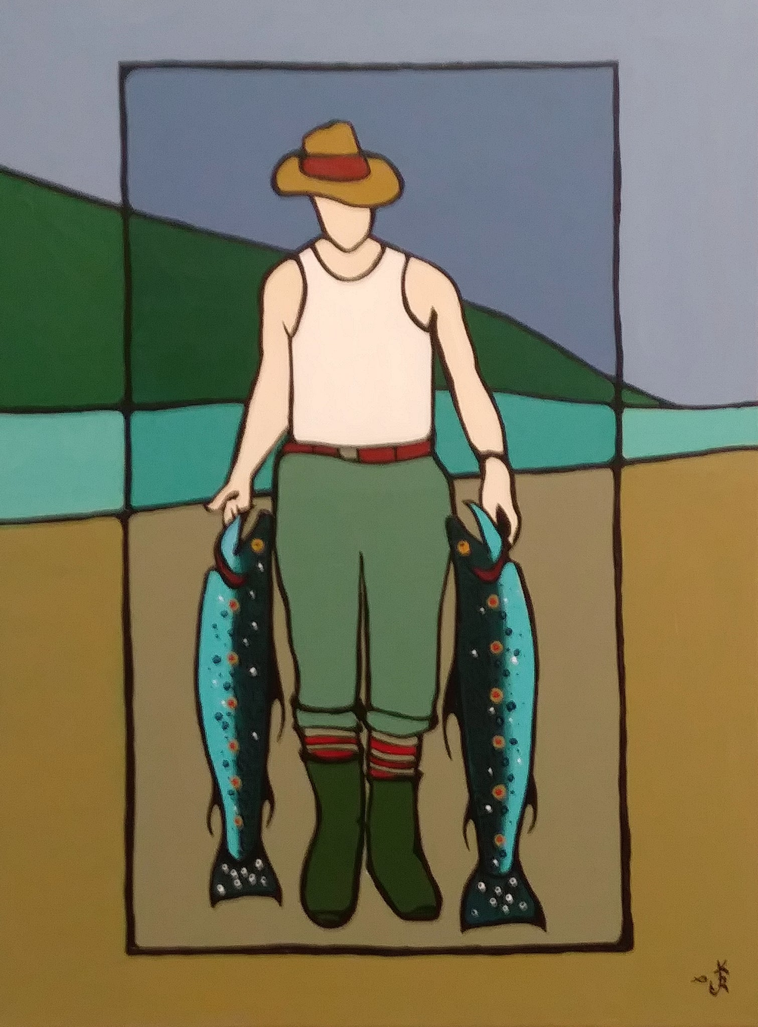 Man With Two Trout