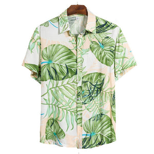Herren Hawaiian Beach Fashion Print Lässiges Kurzarmhemd