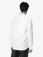 Givenchy logo collar slim-fit shirt - Men - Apparel - Shirts - Dress Shirts - Givenchy | Gethuda Fashion