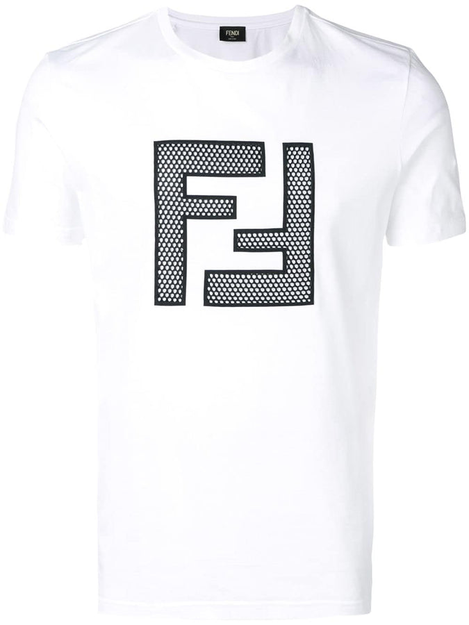 Fendi T-Shirt with Netted Logo - Men - Apparel - Shirts - T Shirts - Fendi | Gethuda Fashion