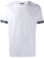 Balmain Round Neck T-Shirt with Black Stripe Logo on Arm - Men - Apparel - Shirts - T Shirts - Balmain | Gethuda Fashion