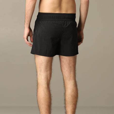 Balmain Swim Shorts with khaki print logo band