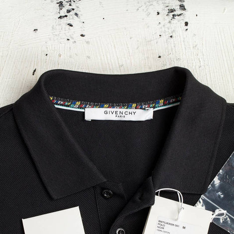Givenchy colorful patch on chest Black Polo shirt