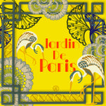 Load image into Gallery viewer, Jardin De Paris Yellow Small Silk Square Scarf