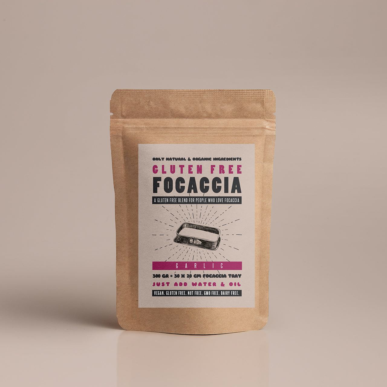 Gluten Free Focaccia Garlic / Box of 4