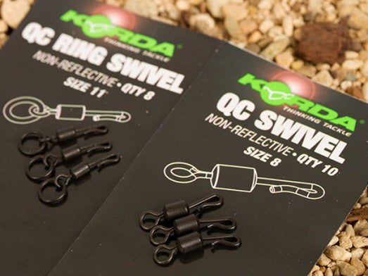 Korda Quick Change Swivels.