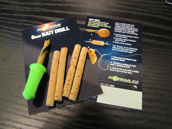 Korda Bait Drill and Cork Set  ( 6mm and 8mm )