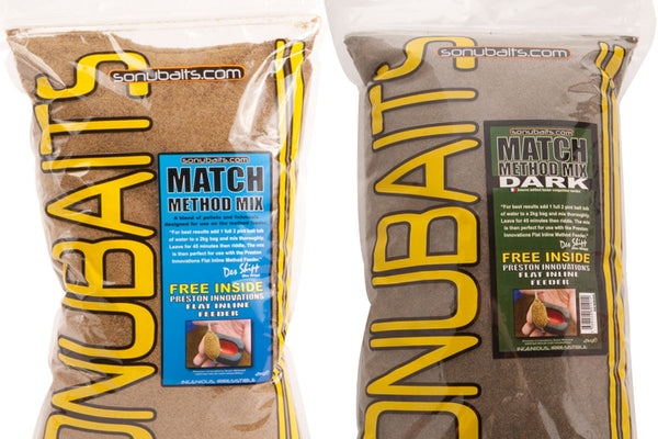 Sonu Baits Match Method Mix & Dark Match Method Mix