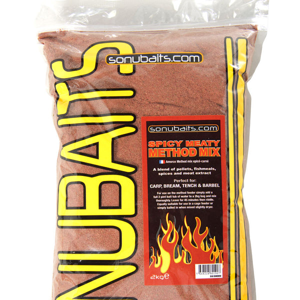 Sonubait Spicy Meaty Method Mix Groundbait
