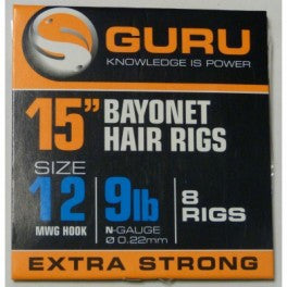 Guru 15in Bayonet Hair Rigs