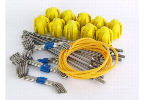 Gemini System 100+ Assembly Kit – Long Tail/Long Grips/Yellow Heads