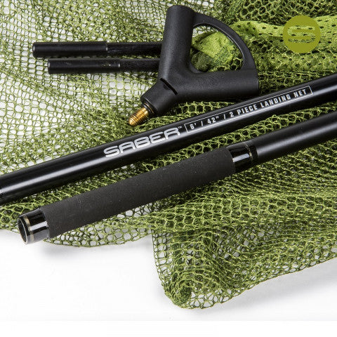 Saber 42in 2 Piece Landing Net And Staff