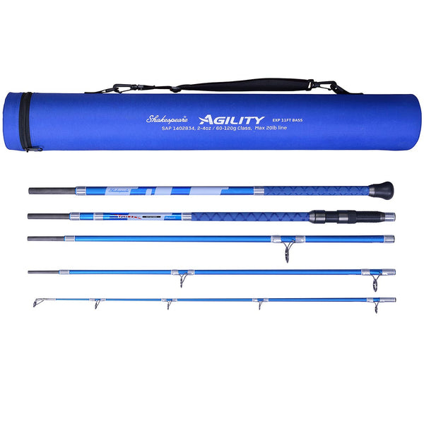 Shakespeare Agility 11ft Travel Bass 5 Piece Rod.