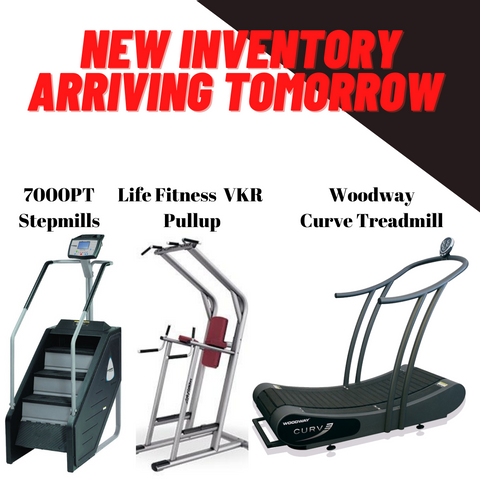 Stairmaster Stepmills, Life Fitness Vertical Knee Raise, Woodway Treadmill