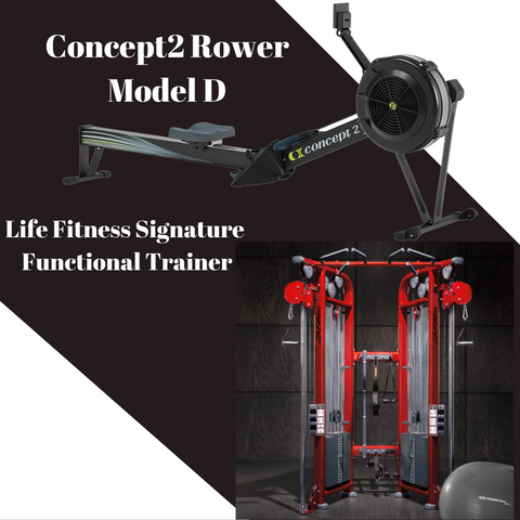 Used Concept2 Rower & Life Fitness Functional Trainer
