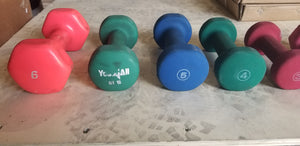 Assorted Neoprene Dumbbells - USED - SOLD IN PAIRS - Buy & Sell Fitness