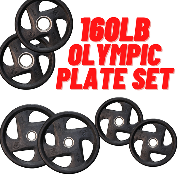 160lb Iron Bull Olympic Plate Set / Package - Buy & Sell Fitness