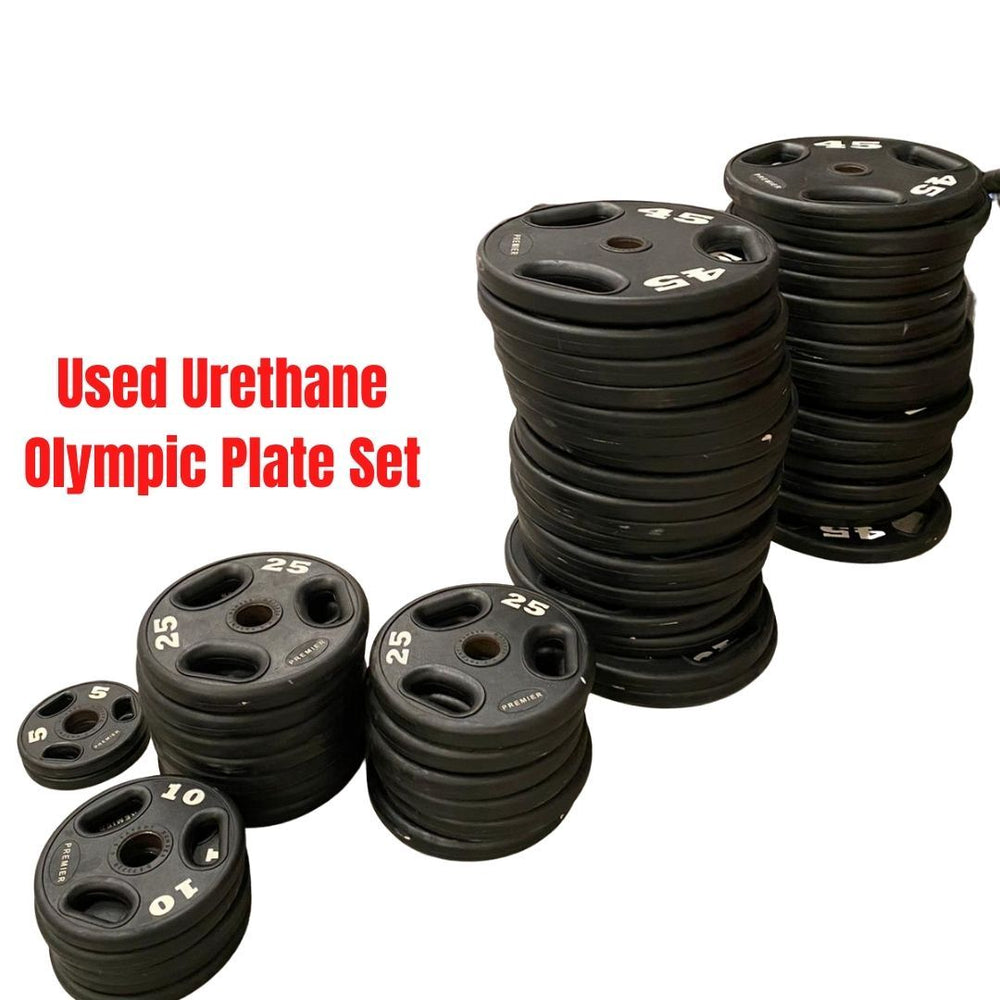 2005lb Used Urethane Olympic Plate Set - Buy & Sell Fitness