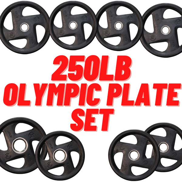 250lb Iron Bull Olympic Plate Set / Package - Buy & Sell Fitness