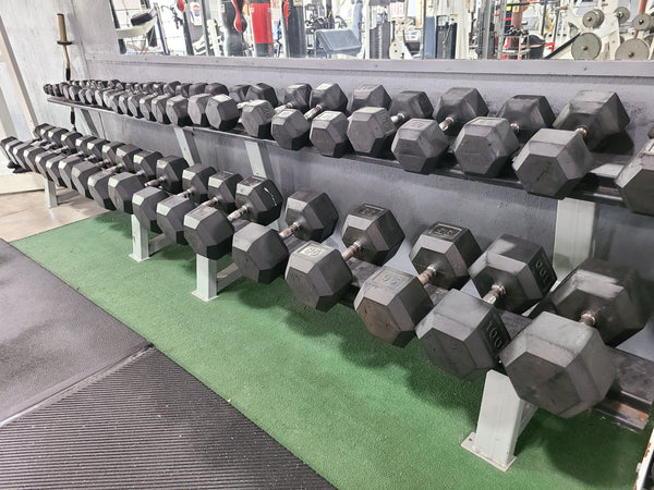 Hex Rubber Dumbbells (USED) - SOLD IN PAIRS - Buy & Sell Fitness