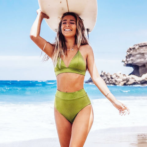 Lively Lime Bikini Set