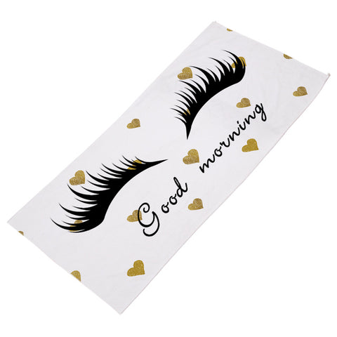 Gold Mornings Beach Towel