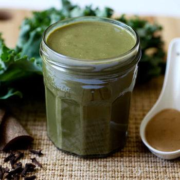 Calcium Rich Tahini Kale Smoothie