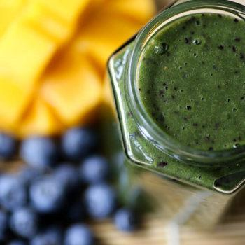 Mango Blueberry Good Green Smoothie
