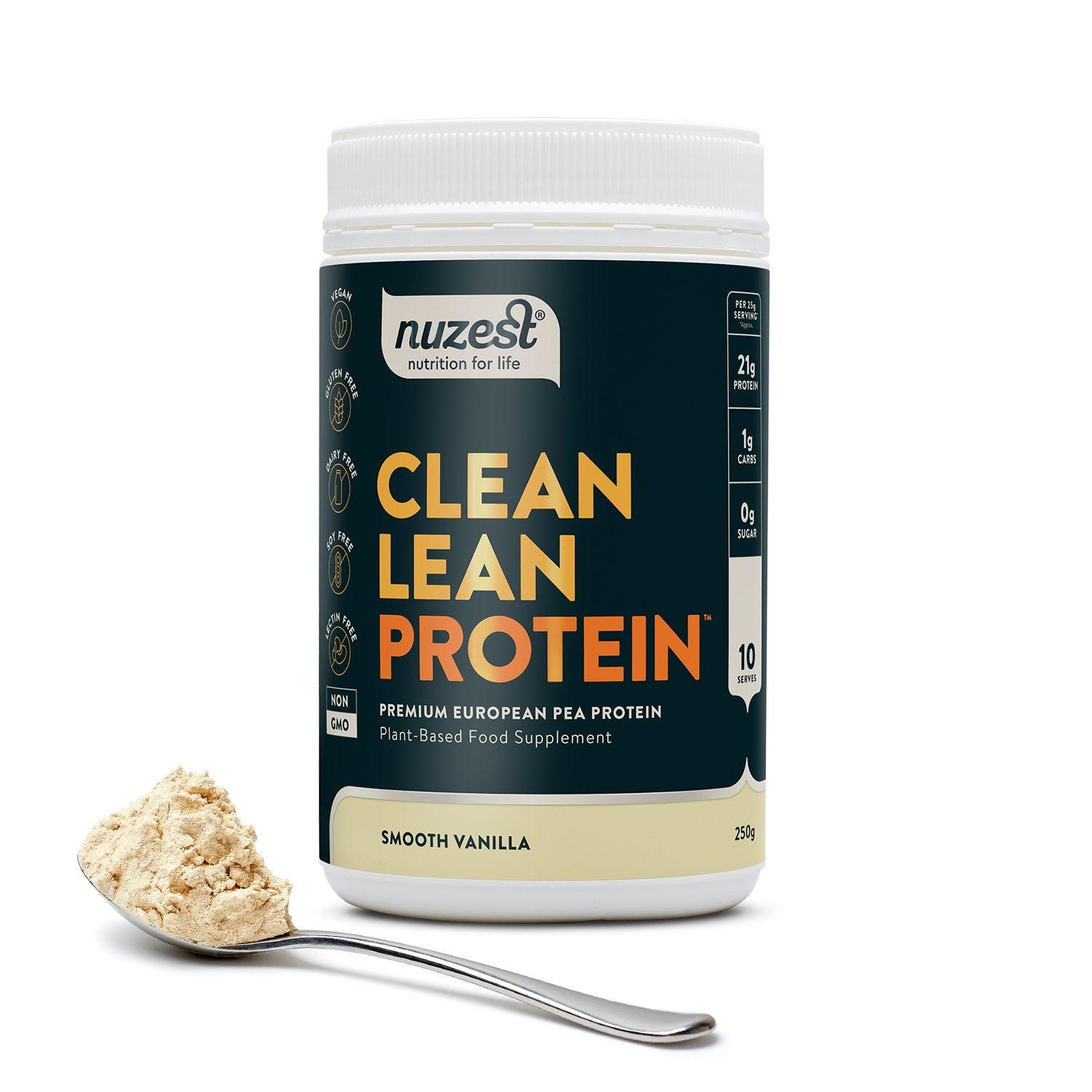 Clean Lean Protein Smooth Vanilla, Organic Pea Protein 250g