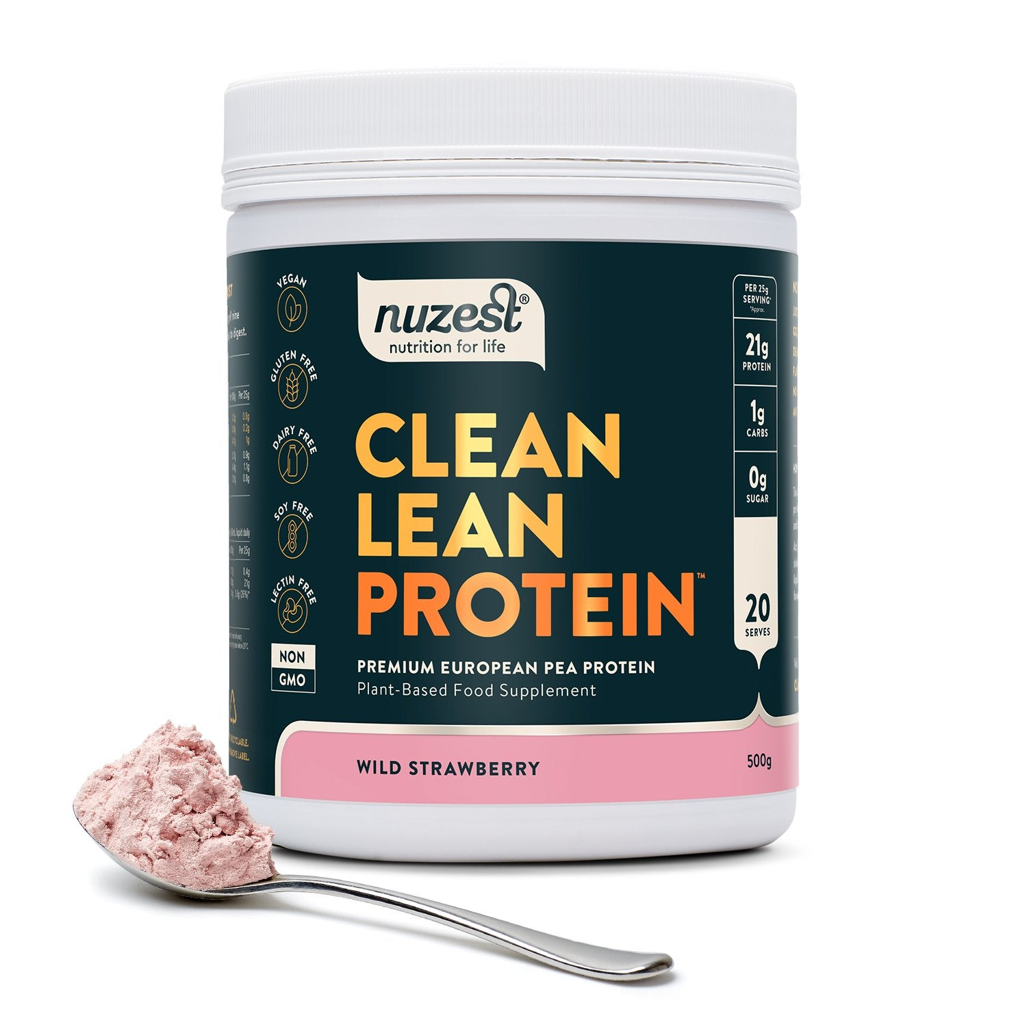 Clean Lean Protein Wild Strawberry, Organic Pea Protein 500g