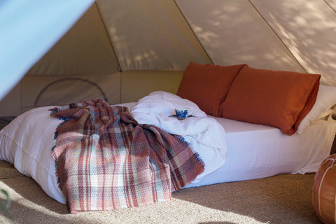 Lulubelltents.glamping.bell.tent.interior.gloucestershire
