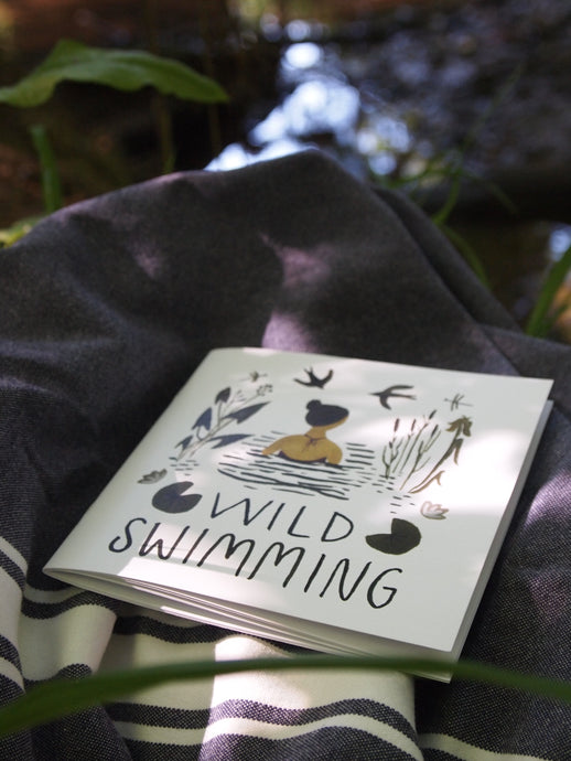 Wild swimming book for beginners with tips and advice. Beautiful illustrations