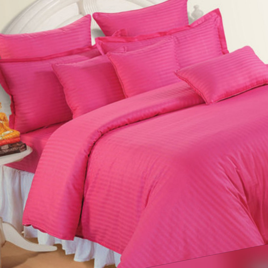 4 in 1 Striped Luxury Bed Sheet