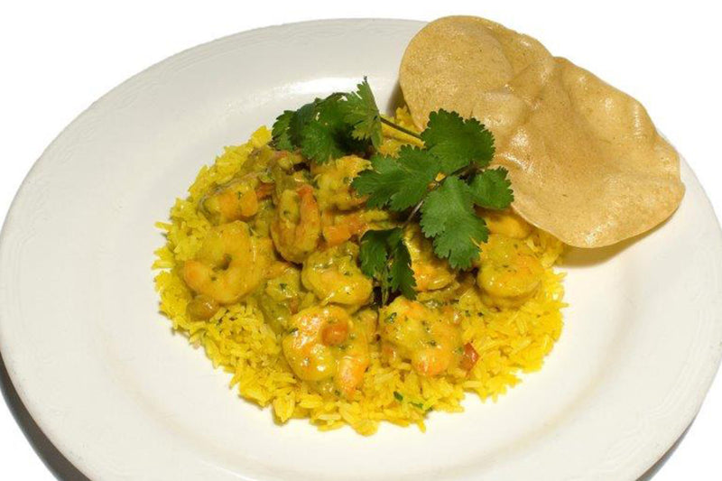 Curry Prawns with Braised Rice
