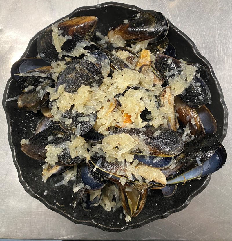 Steamed sweet chilli Mussels
