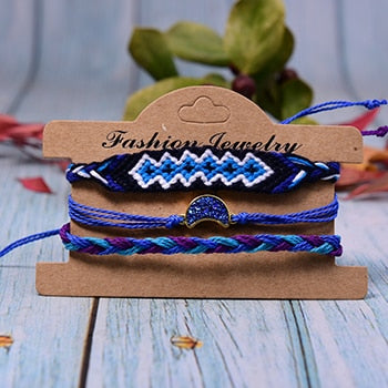 Moon Walk Bracelets - Dark Blue