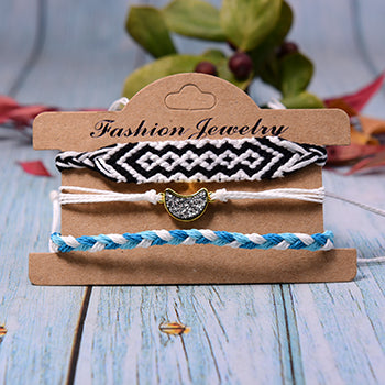 Moon Walk Bracelets - Blue & Black