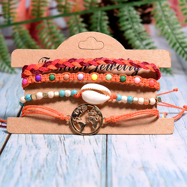 Colorful World Bracelets - Orange