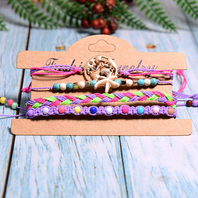 Colorful World Bracelets - Purple