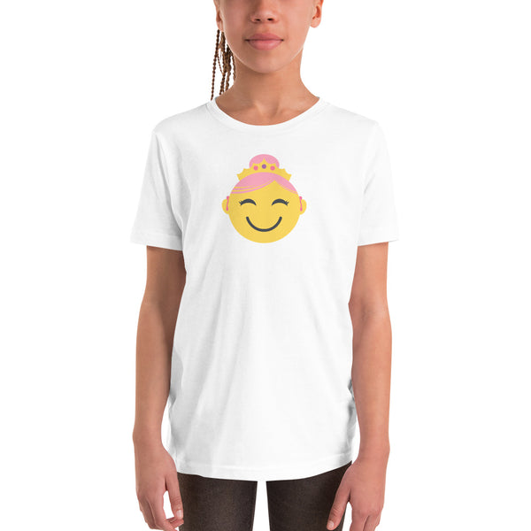 Princess with Hearing Aids: YOUTH T-SHIRT | yellow/pink