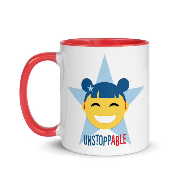 Unstoppable Star with Hearing Aids: MUG | red/blue/girl