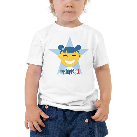Unstoppable Star with Hearing Aids | TODDLER T-SHIRT | girl/yellow
