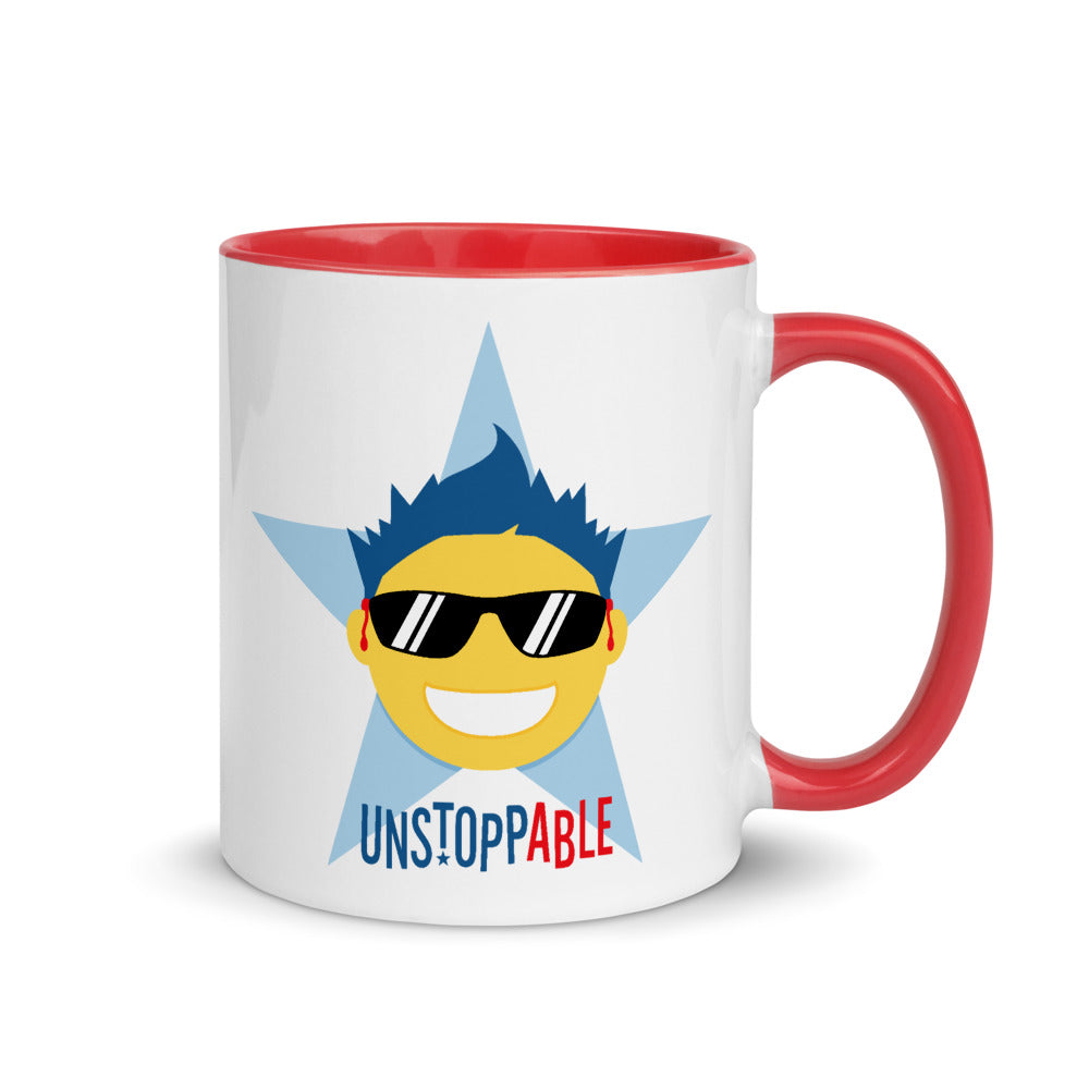 Unstoppable Star with Hearing Aids: MUG | red/blue/boy